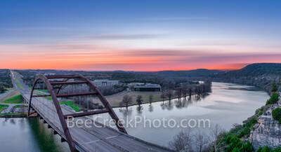 Austin 360 bridge, pennybacker bridge, Austin, Lake Austin, scenic, sunset, landscape, landscapes, sunset colors, scenery, clouds, images of austin, texas hill country, texas scenery,