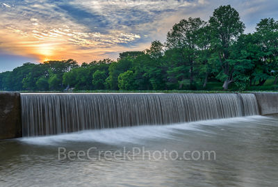 Sunset on Texas Guadalupe River