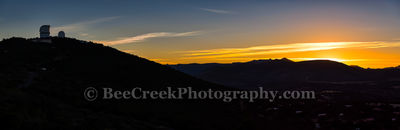 Sunset Over McDonald Observatory Pano