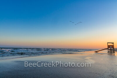 Tranquility at Dusk, Port Aransas Beach Texas Coast