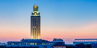 UT Tower Magic Hour Pano