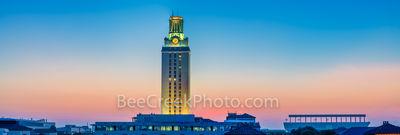 UT Tower Magic Hour Panorama