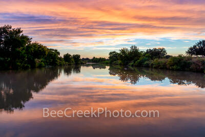 Vibrant Texas Hill Country Sunset