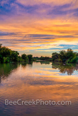 Vibrant Texas Hill Country Sunset Vertical