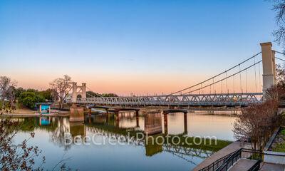 Waco Suspension Bridge Dusk