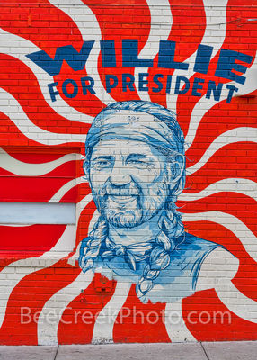 willie for president mural, austin texas, austin downtown, congress ave, soco, south congress, willie nelson, austin murals, murals, vertical, art,