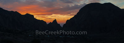 Window, sunset, chiso mountains, siloutte, fiery colors, window view, Texas landscape, Big Bend National Park, overlook, Chiso Lodge, evening, pano, panorama, Chisos lodges,