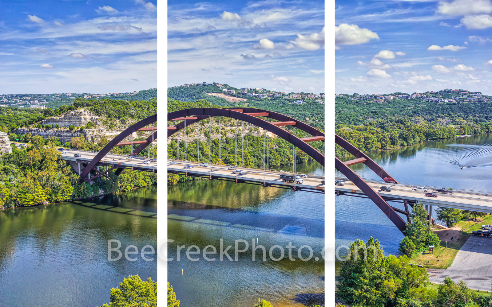 Austin 360 Bridge,  Triptych, austin, photo