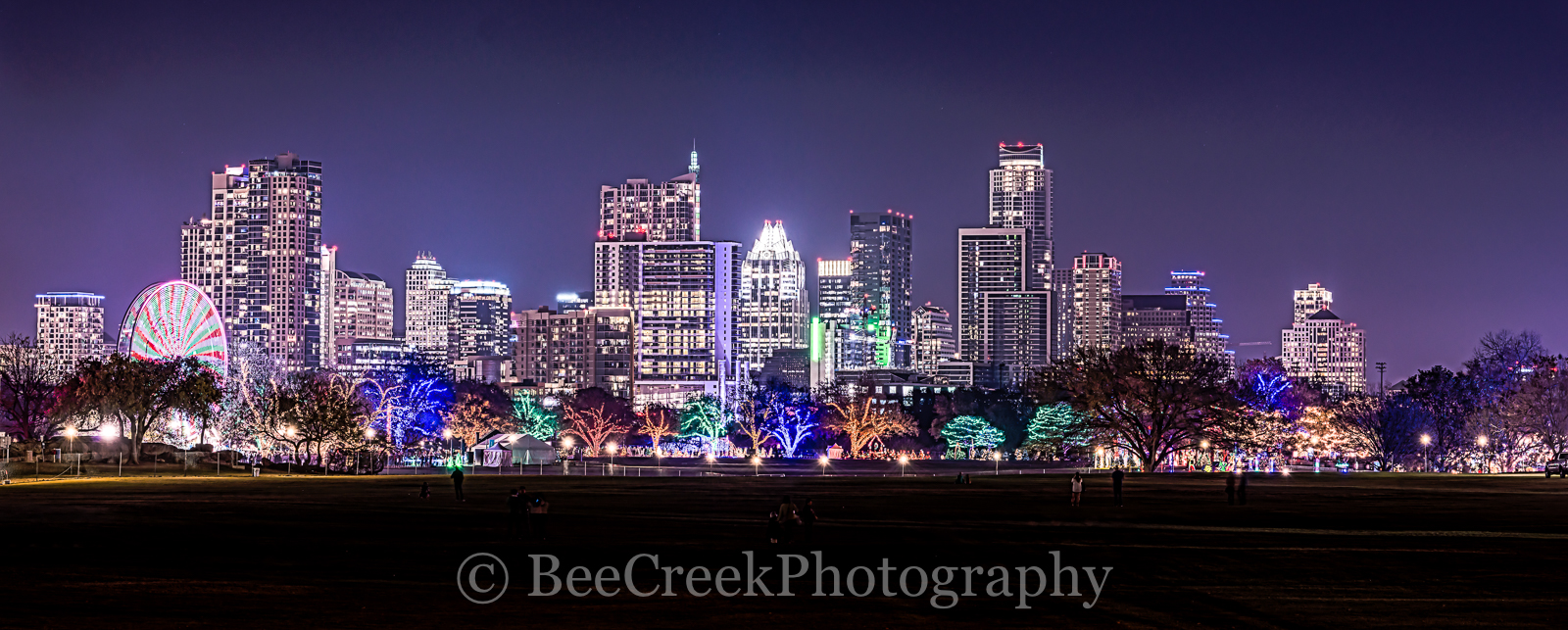 Austin, Zilker Christmas, cityscape, cityscapes, colorful, festive, holiday, skylines, trail of lights, events, park, , austin skylines, austin cityscapes, photo
