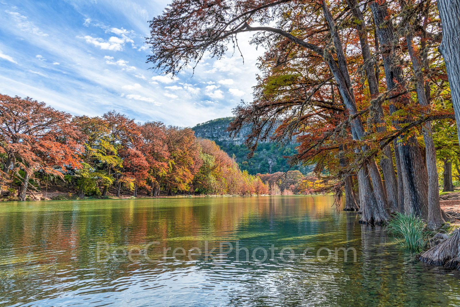 Garner State Park, Frio river, autumn, foliage, Texas landscape, texas hill country, fall, fall colors, Old Baldy, canvas, prints, Texas, landscape,  fall landscape, texas fall landscape, rural texas , photo