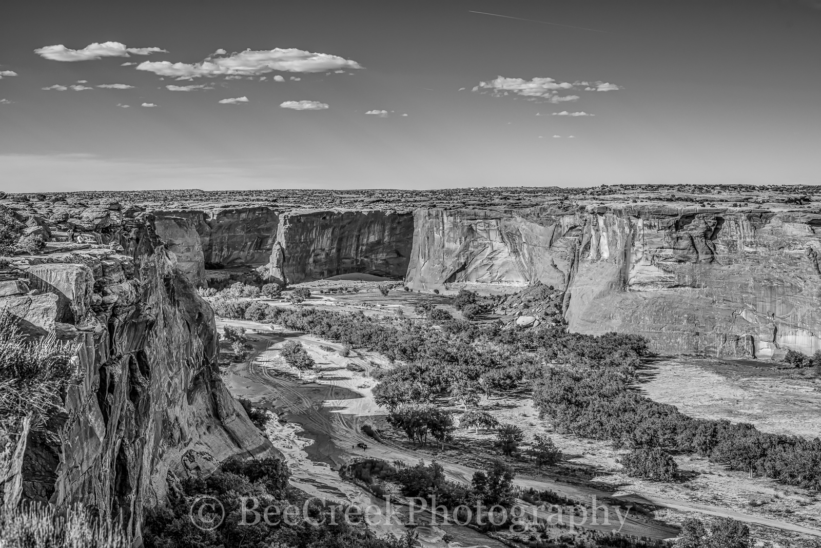 BW Canyon-This is another image of the Canyon de Chelly that we created as a black and white. I thought he BW just...