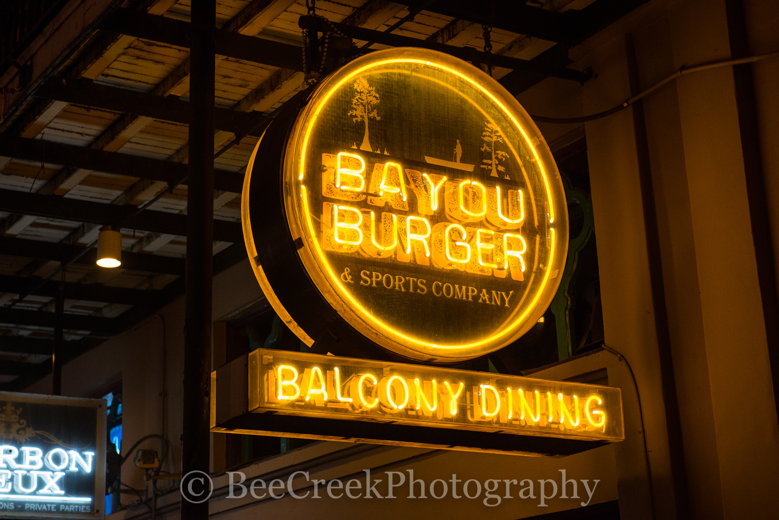 Bourbon Street, French Quarter, New Orleans, bars, live music, neon, neon signs, restaurants, signs, photo
