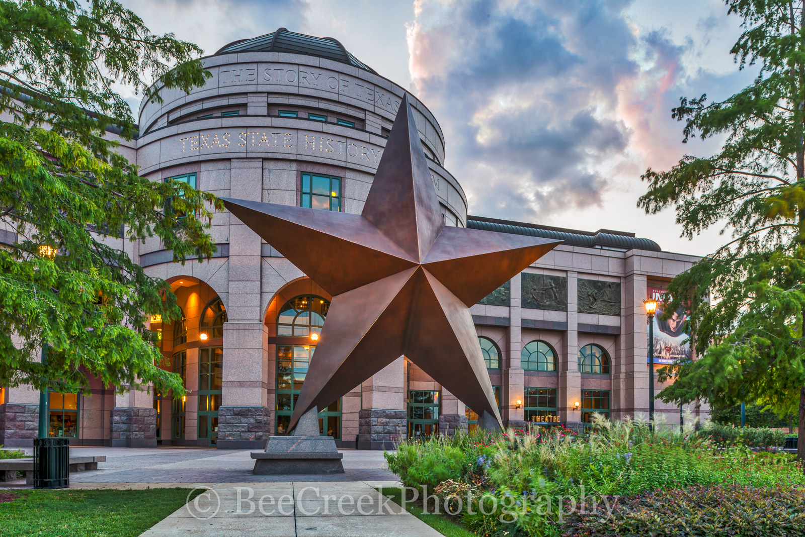 Austin Museum, Bob Bullock Museum, Places to go in Austin, Texas star in front of Museum, Texas symbol, attractions in Austin, austin places, big star, images of Bob Bullock Museum, images of austin, , photo