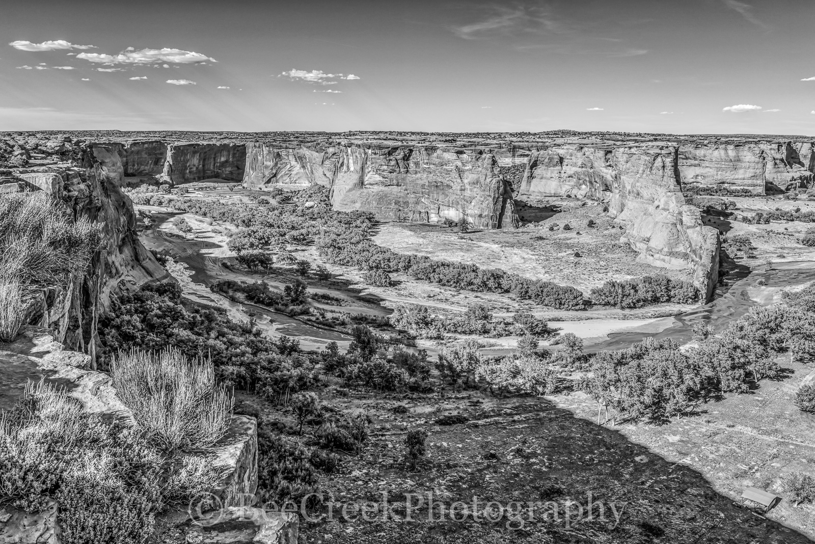 Canyon de Chelly BW-This is an image of the Canyon de Chelly that we created as a black and white. I thought he BW...