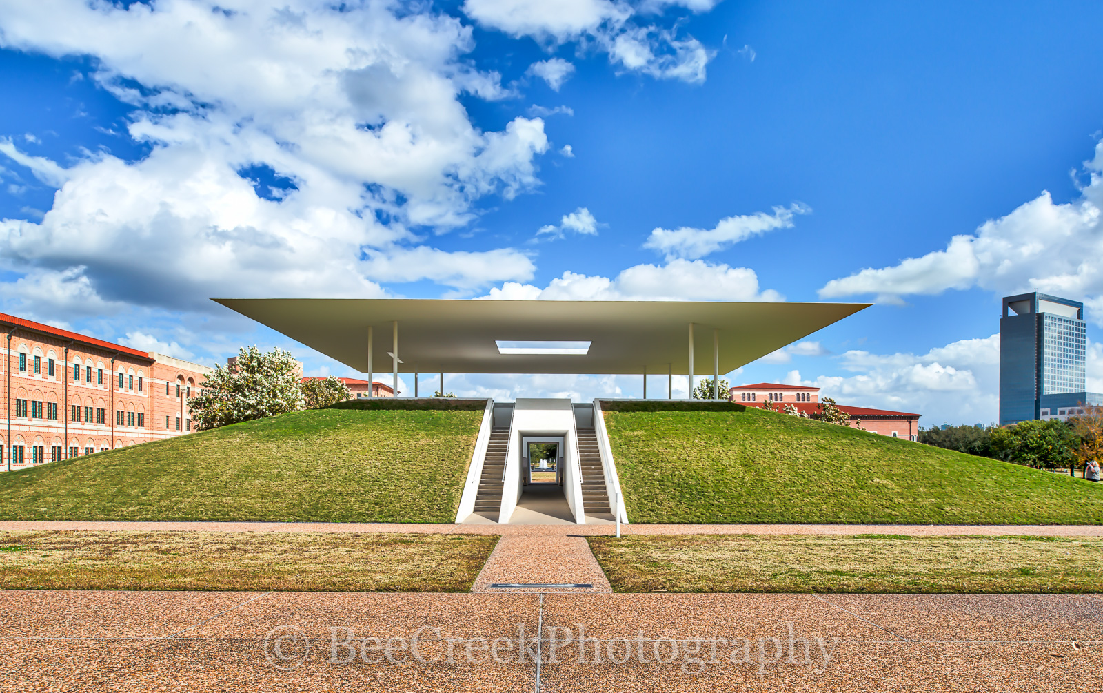 Herman Park, Houston, Houston centennial pavillion, Houston cityscape, James Turrell Skyspace, Medical Center, Rice, Rice University, city, cityscape, photo