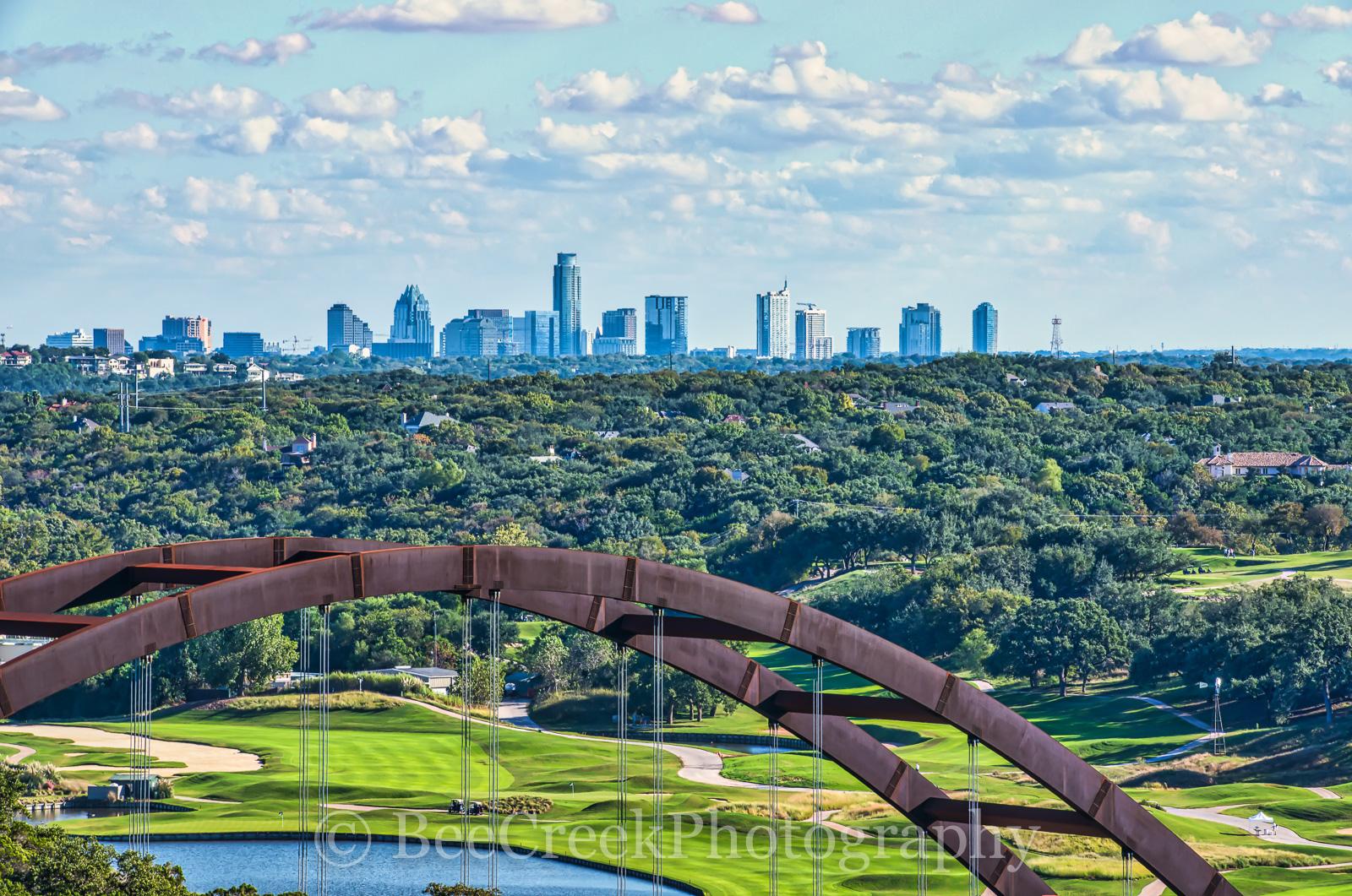 360 bridge, Austin, Austin Country Club, Pennybacker bridge, cities, city, cityscape, downtown, golf course, modern, skyline, urba, , photo