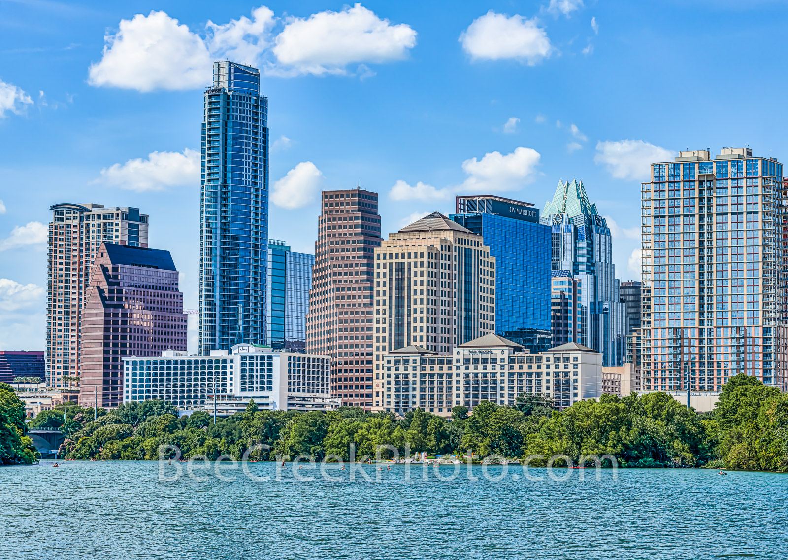 Austin Skyline Daytime - Today was a nice day with blue skies and puffy white clouds so we captured this Austin Skyline. Austin...