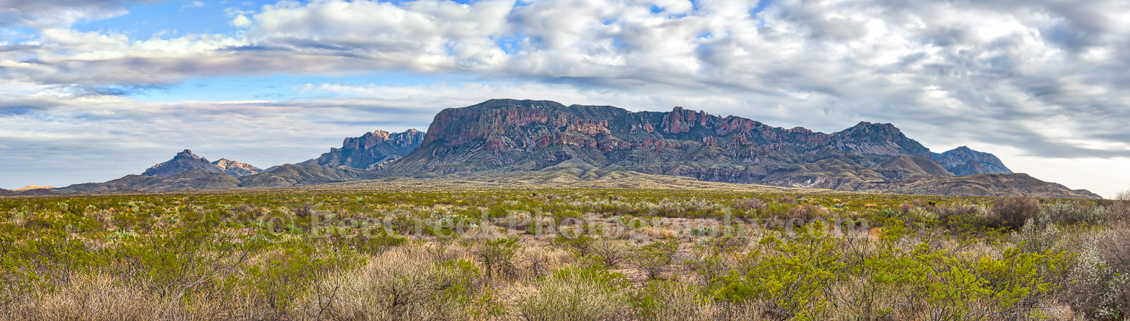 Chiso Mountian, landscape, pano, panorama, Big bend national park, scenic, clouds, Chihuahuan desert, creosote bush, desert, mountains, , photo
