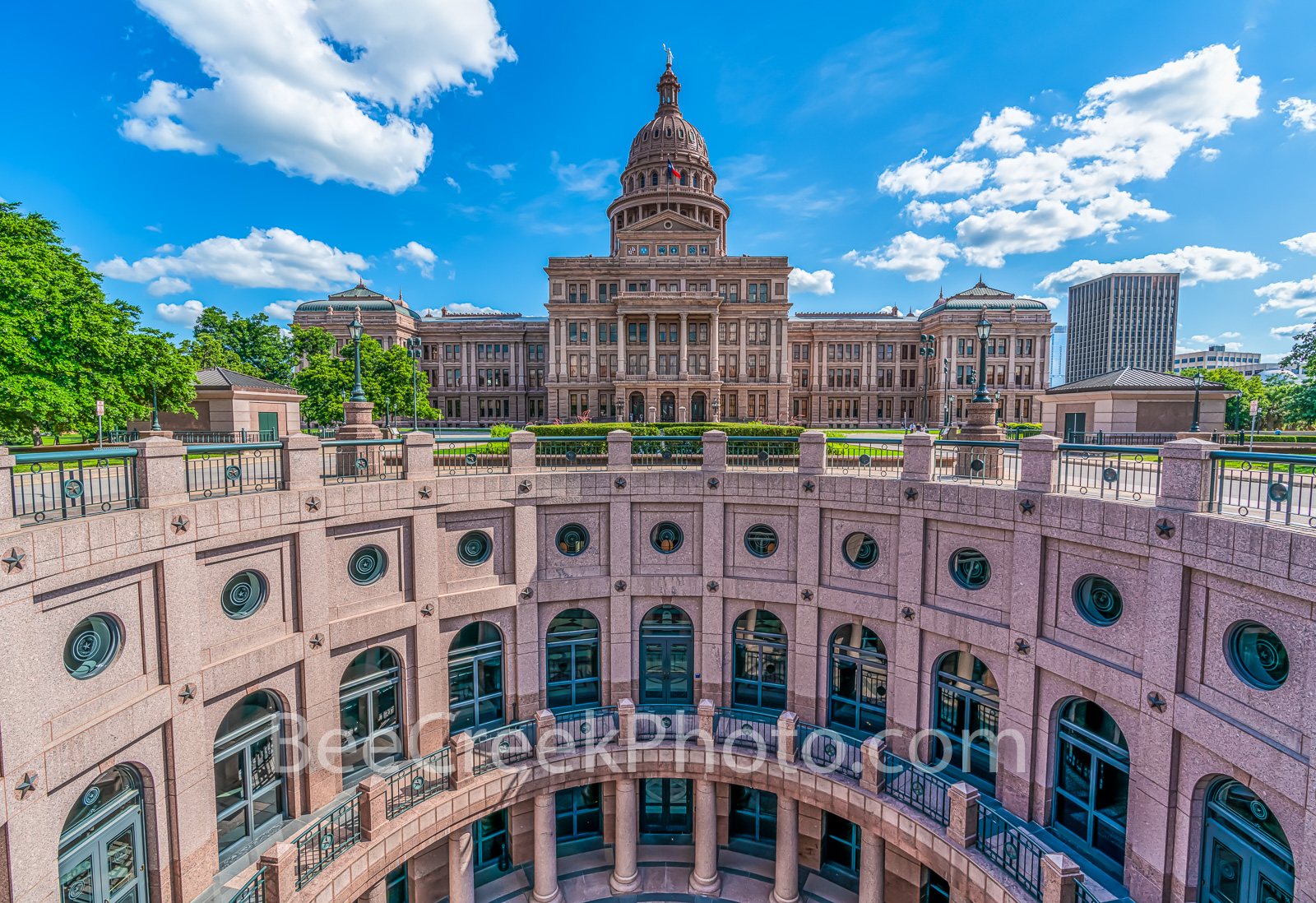 Texas State Capitol Rotundra  - We love the view of the outside rotundra at the Texas State Capitol with this blue sky and...
