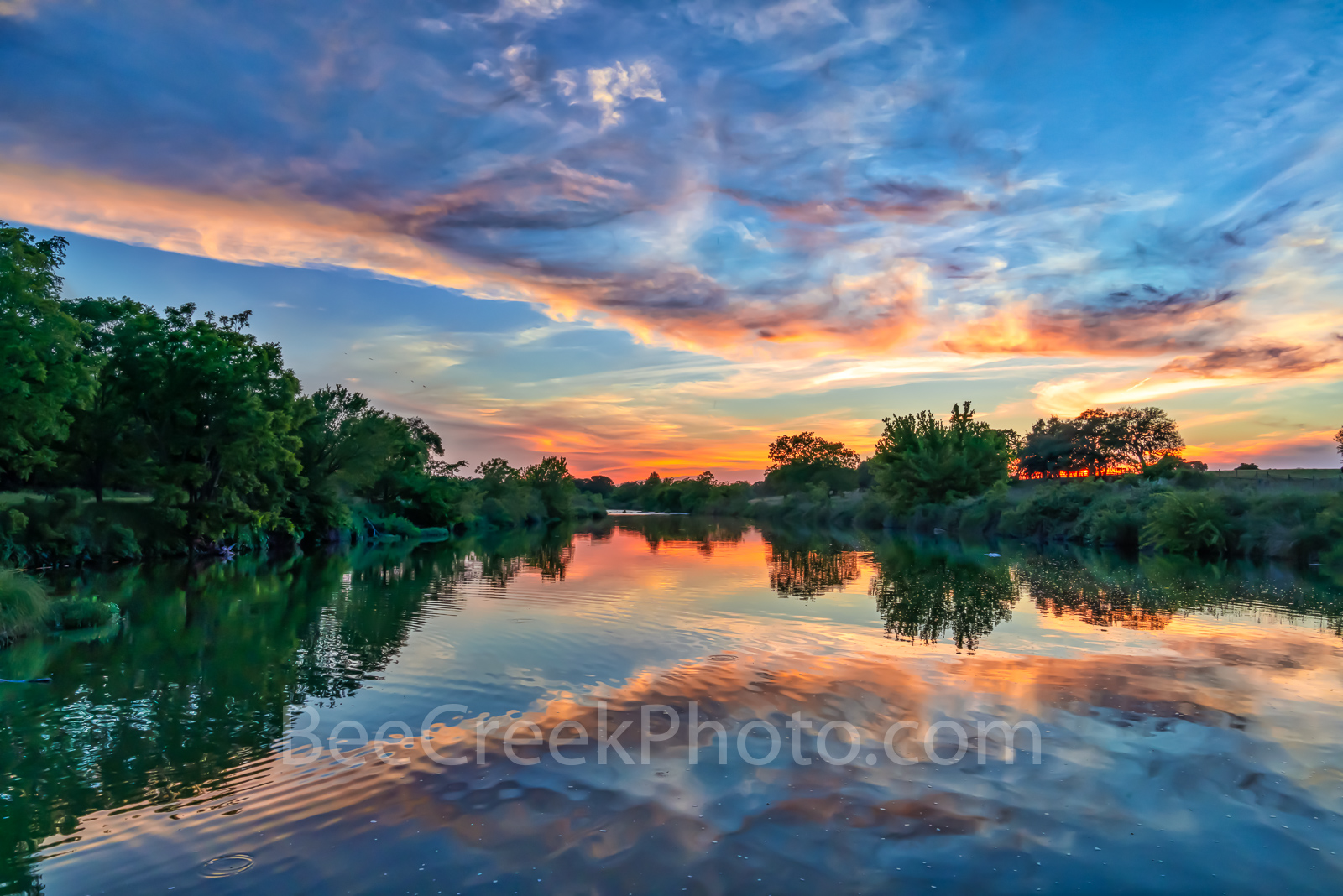 Texas Hill Country Sunset, Texas Hill country, sunset, Pedernales river, landscape, water, river, trees, rurals, Colorado river, centrral texas, hill country, Texas. rural,LBJ Ranch, Johnson City, , photo