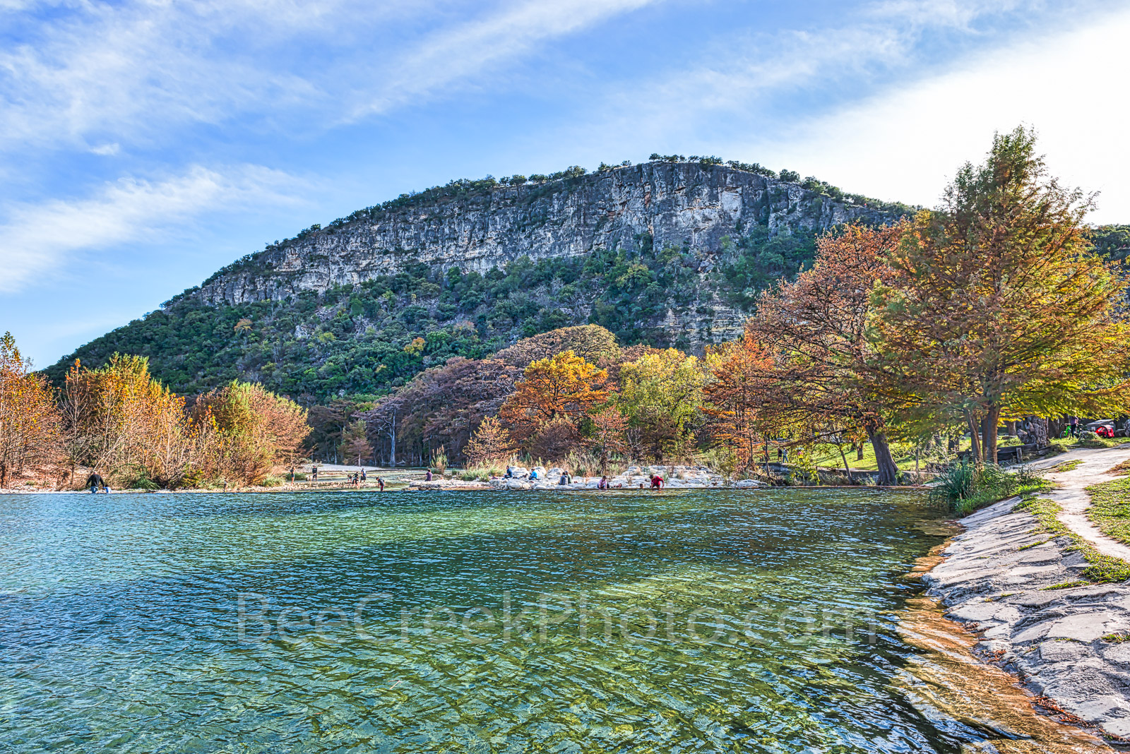 America, American, Frio River, Garner State Park, blue green waters, blue water, clear water, colorful, fall, fall cypress trees, landscape, landscapes, lifestyle, people, rural, rural landscape, rura, photo