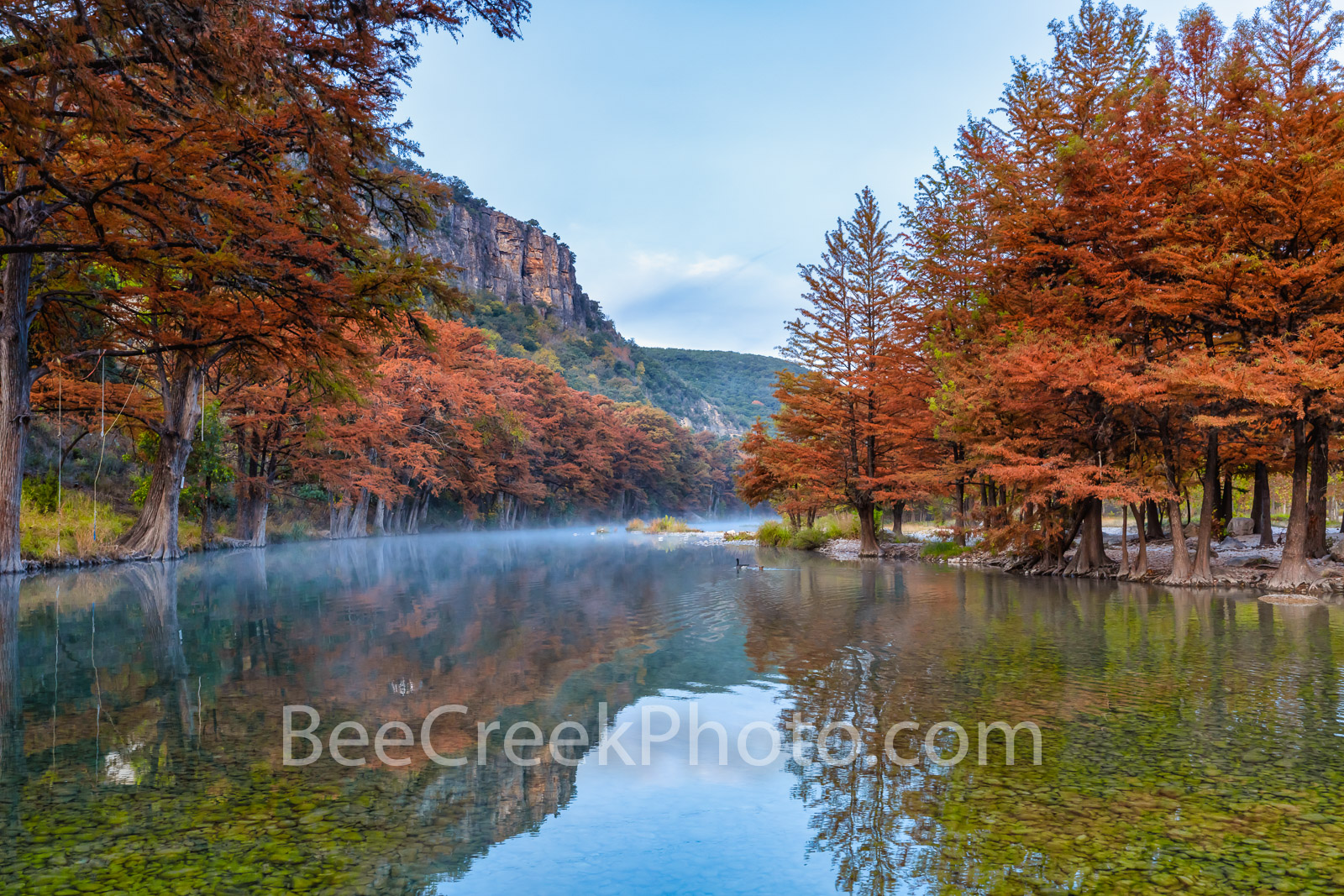 Falls Colors Along the River - Early morning while we waited to get into a garner state park  we capture this fall scenery down...
