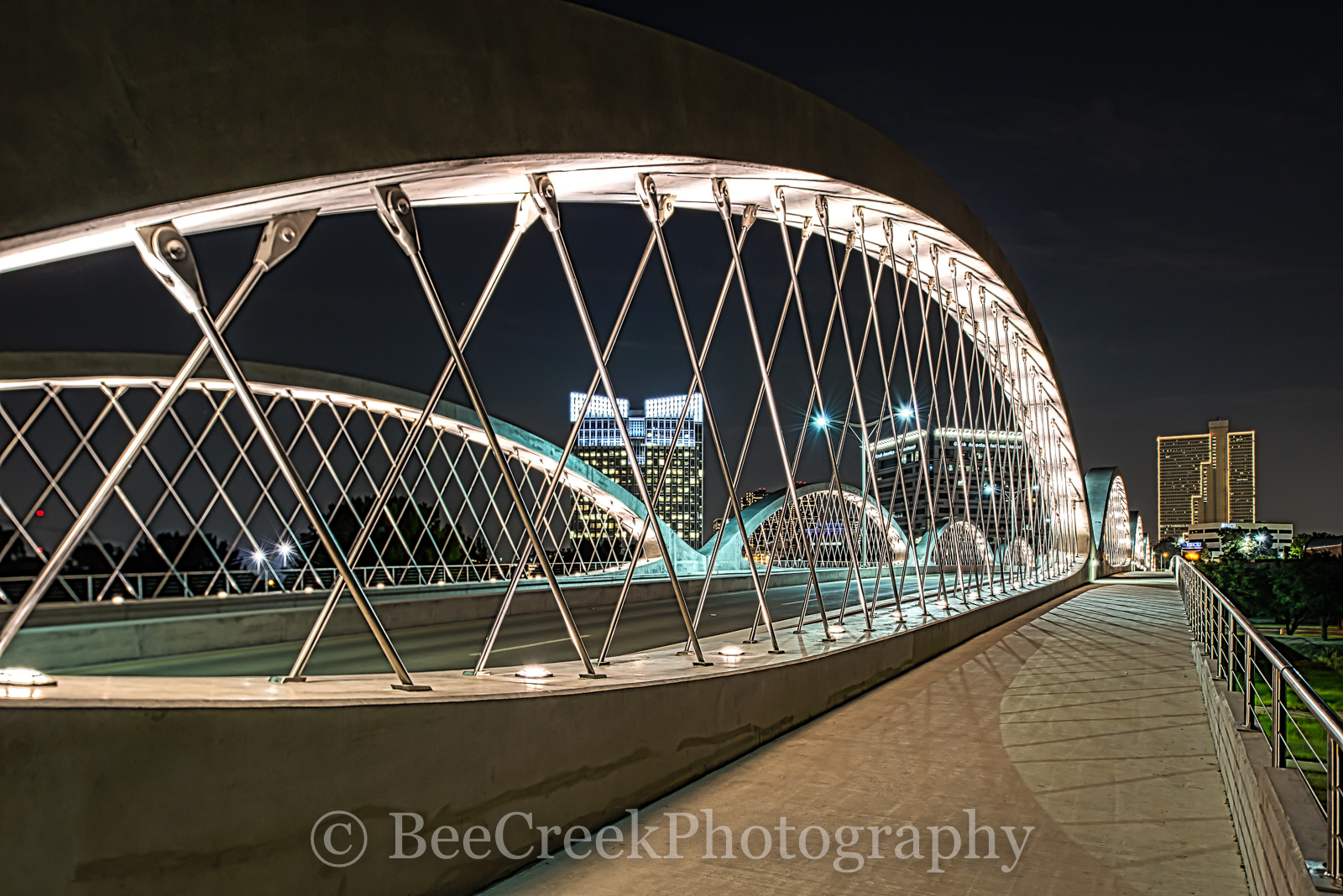 Fort Worth Seventh Street Bridge, Fort Worth, Seventh street bridge, 7th street bridge, architect, architectural, city, cityscape, cityscapes, downtown, modern, night, skyline, skylines, urban, photo