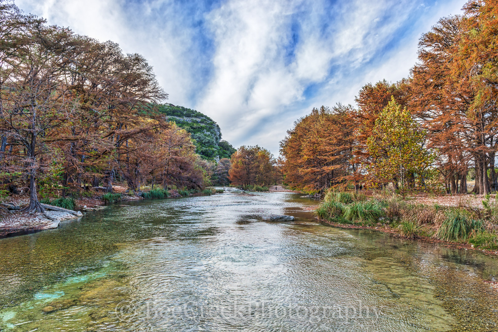 America, American, Con Can, Frio River, blue green waters, blue water, clear water, colorful, fall, fall cypress trees, fall landscapes, images of Texas, landscape, landscapes, photos of Texas, , photo