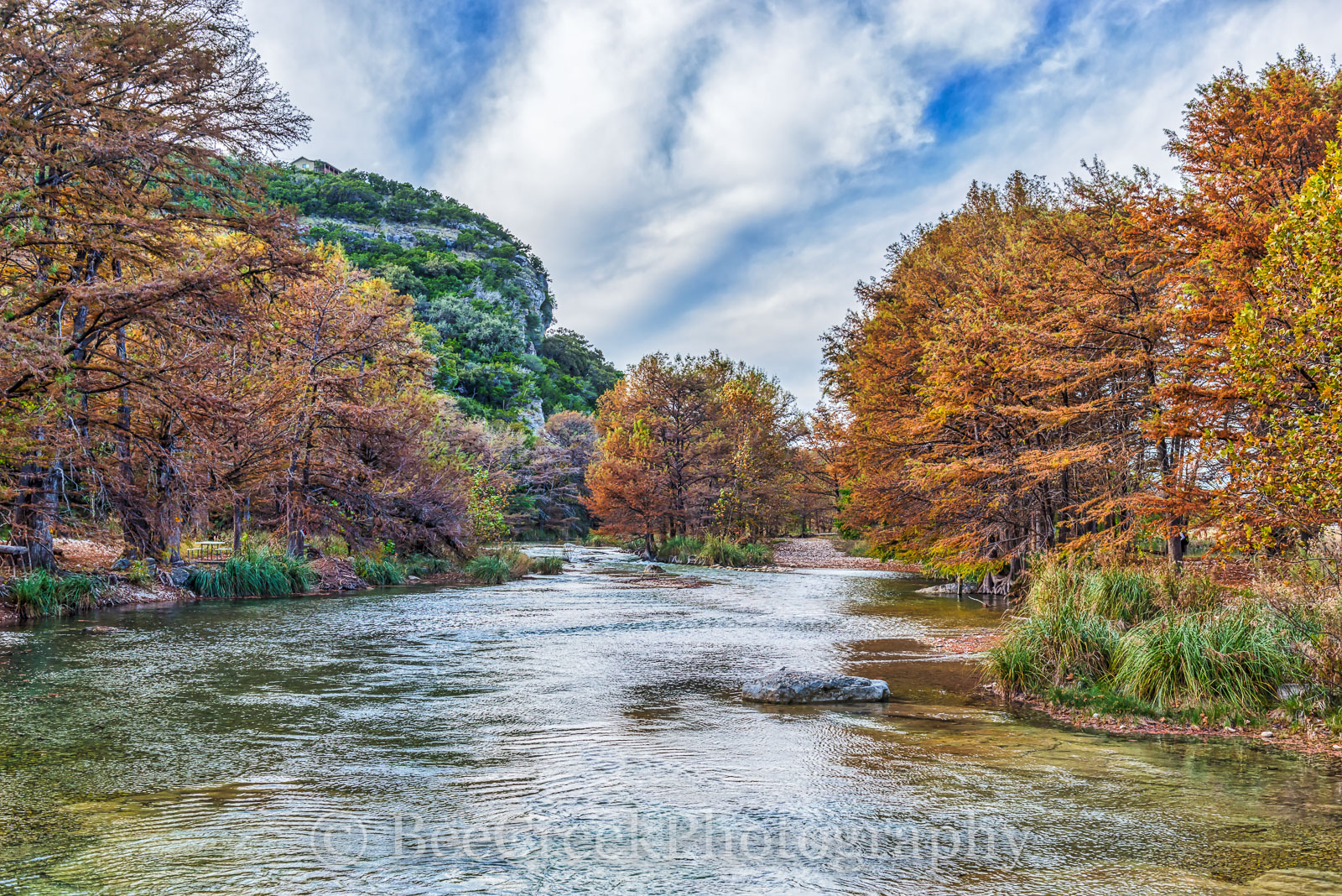 America, American, Con Can, Frio River, Hill Country, blue green waters, blue water, clear water, colorful, fall, fall cypress trees, fall images, fall landscapes, images of Texas, landscape, texas la, photo