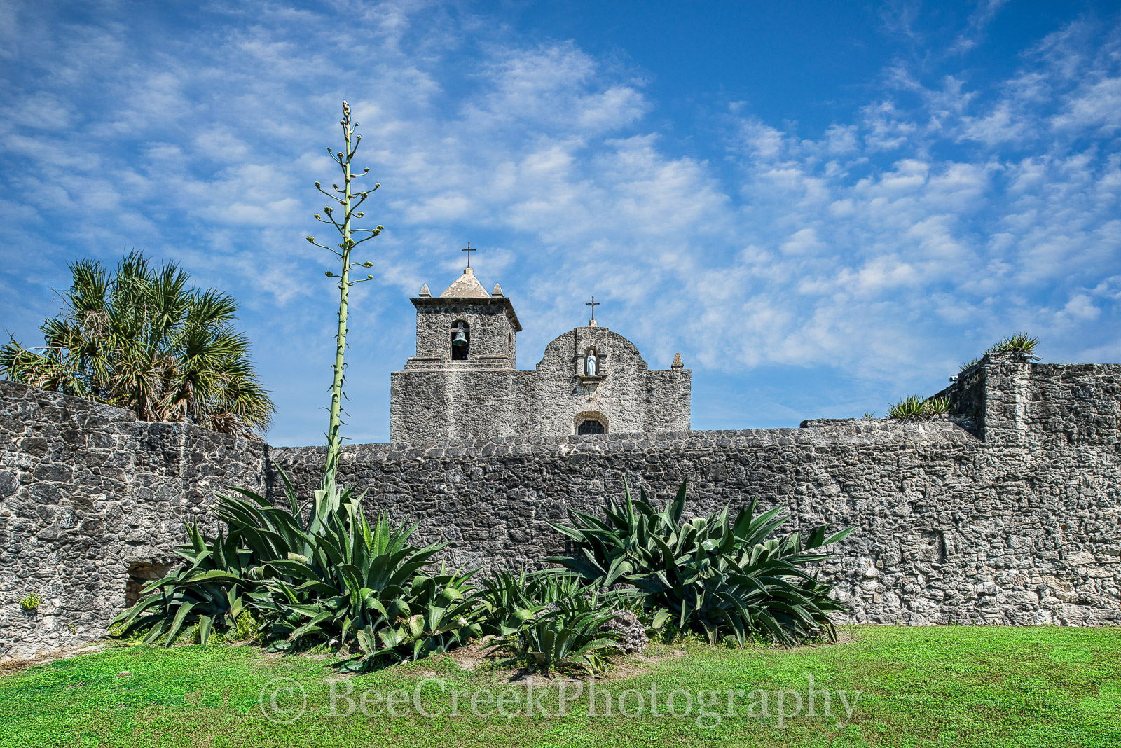 Golidad, Presidio La Bahi, catholic church, fort, historic, mission, missions, spanish, landscape, texas landscapes, , photo