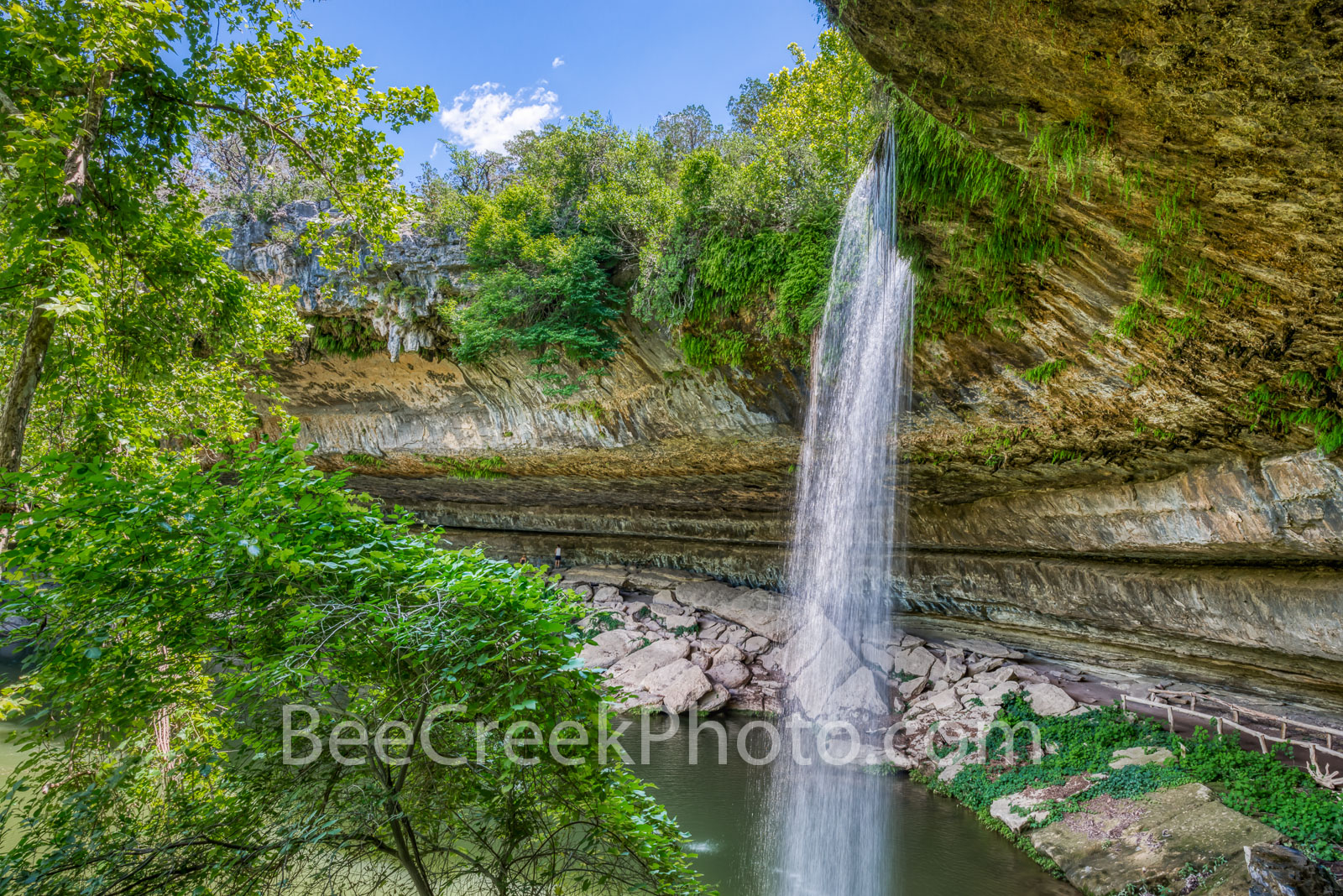Hill Country Waterfall - Hamilton Pool waterfall a Travis country park in the Texas hill country is one of those gems that was...