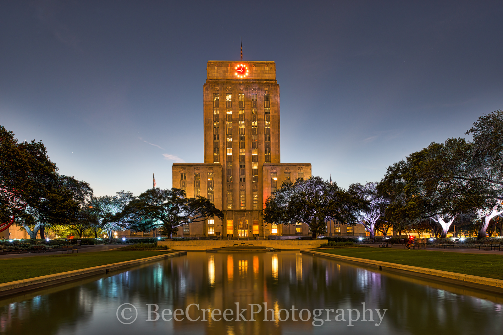 City Hall, Houston, cities, city, cityscape, cityscapes, downtown, high rise, night, nightscape, skyscrapers, urban, photo