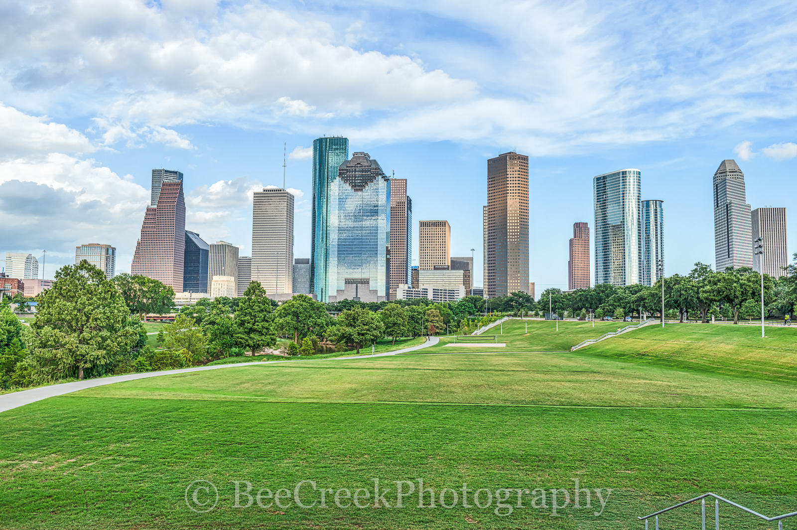 Houston, ball, buffalo bayou, city, cityscape, cityscapes, downtown, high rise, hike and bike, skycrapers, skyline, skylines, sports, trails, volley ball