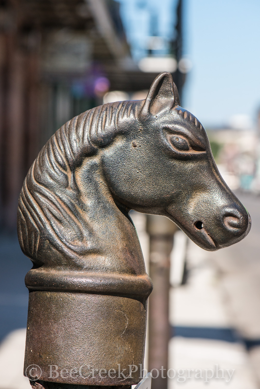French Quarter, New Orleans, cast iron, city, downtown, historic, hitching post, horse, iron, parking, unique, New Orleans cityscapes, , photo