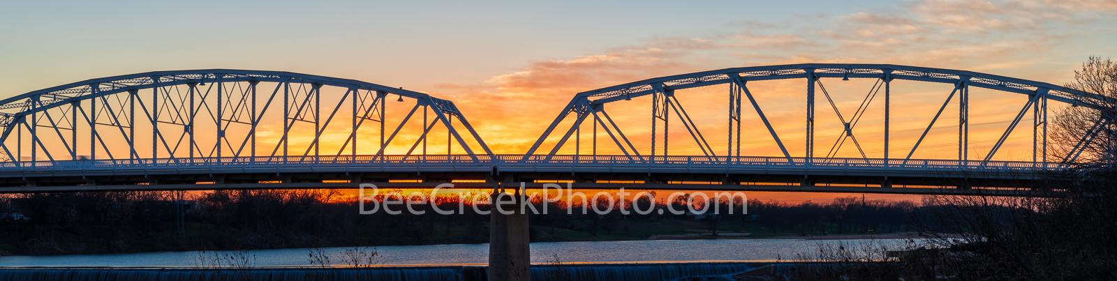 Llano bridge, sunset, pano, panorama, texas hill country, , photo