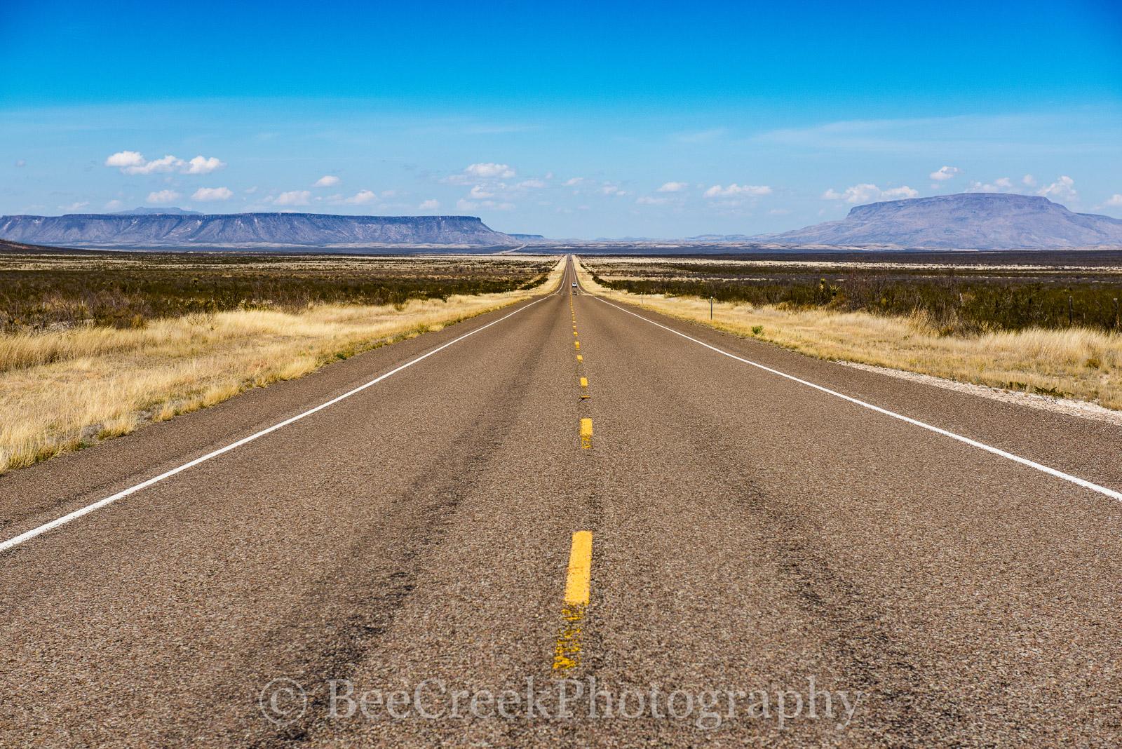 Alpine, Road, distance, long road, texas, photo