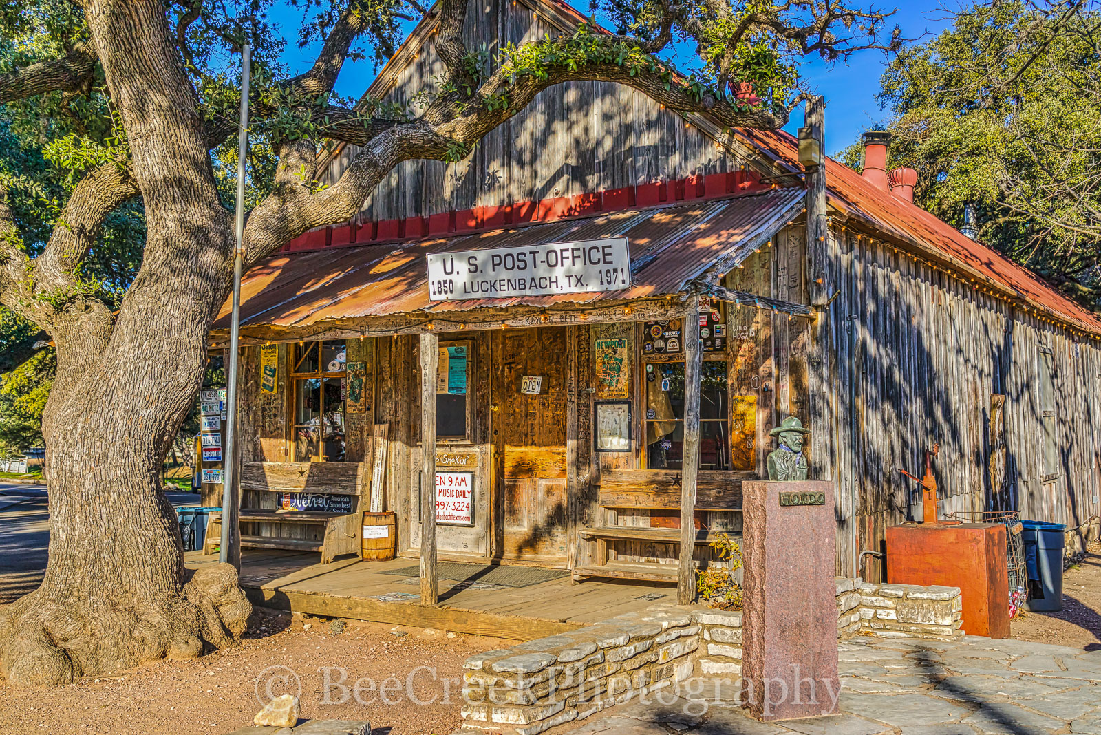 General Store, Luckenbach, Snail Hat Shop, beer garden, saloon, landscape, rural, rural landscape, hill country, Texas, images of texas,  texas landscapes, , photo