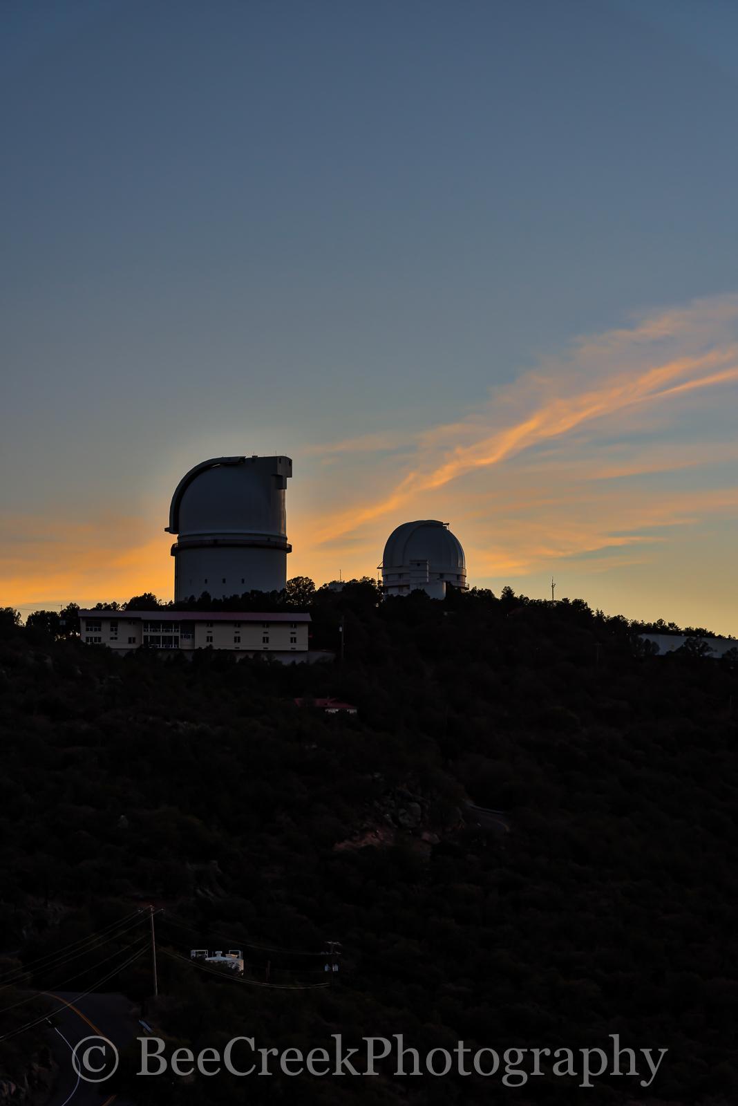 Davis mountains, Fort Davis, McDonald Observatory, colorful, glow, silouette., sunset, west texas, photo
