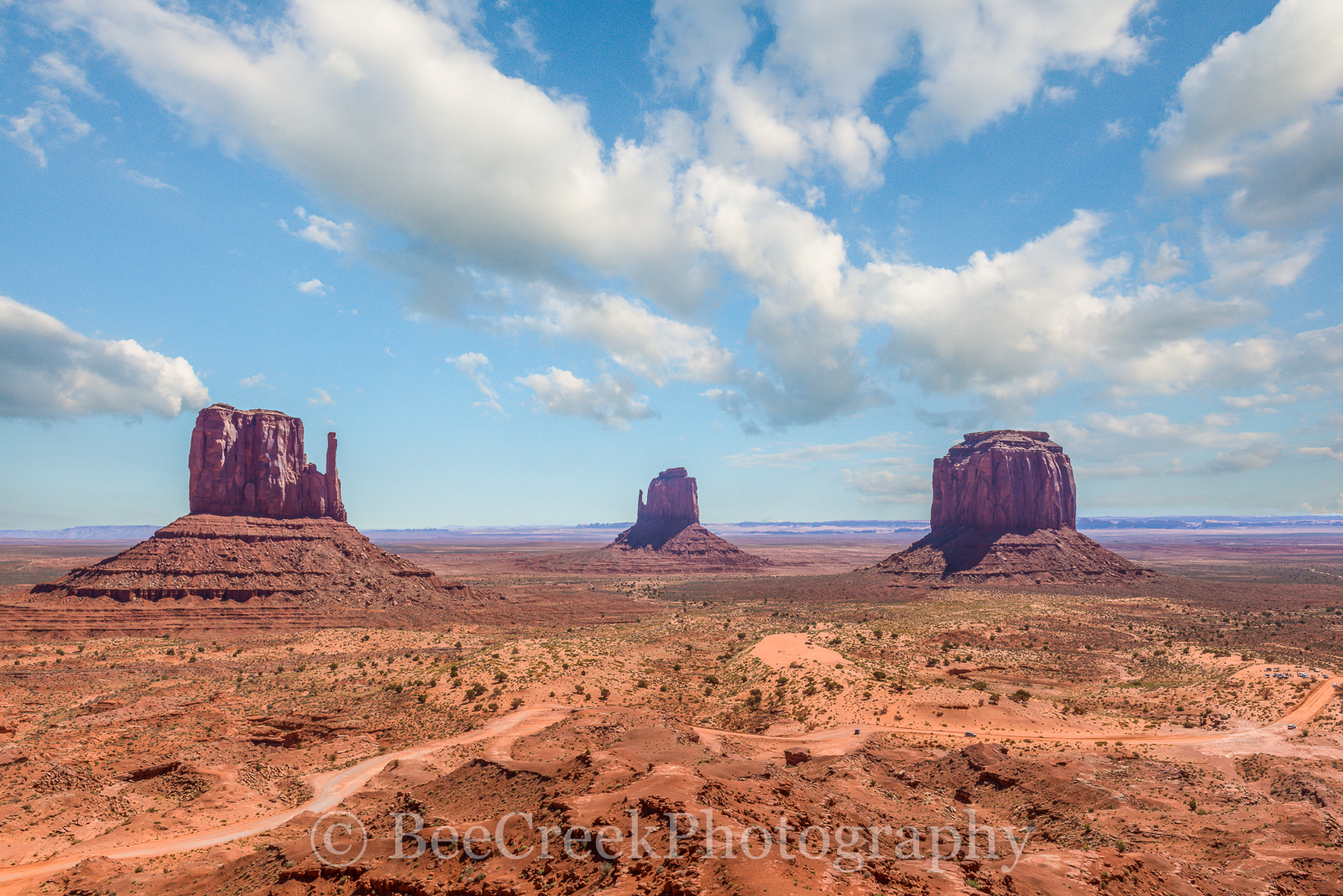AZ, Arizona, Monument Valley, The Mittens, desert, iron, red rocks, sandstone, shale, southwest, southwestern, photo