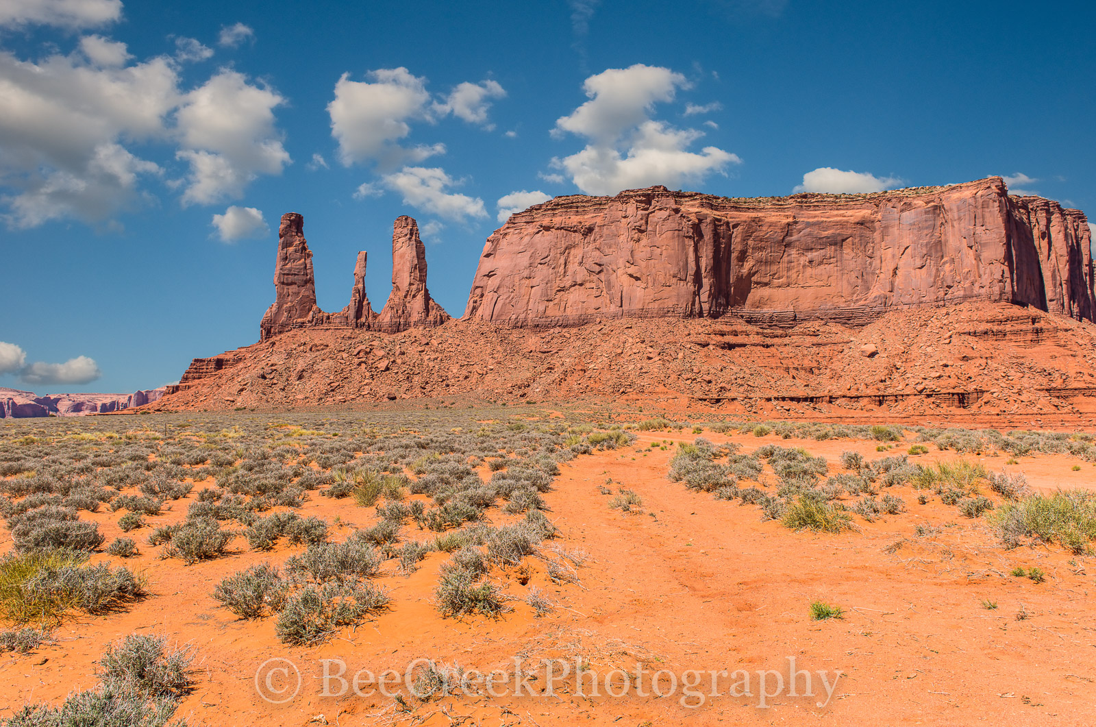 Monument Valley- The three sisters at Monument Valley Arizona. This Navajo destination has these unique geologic...