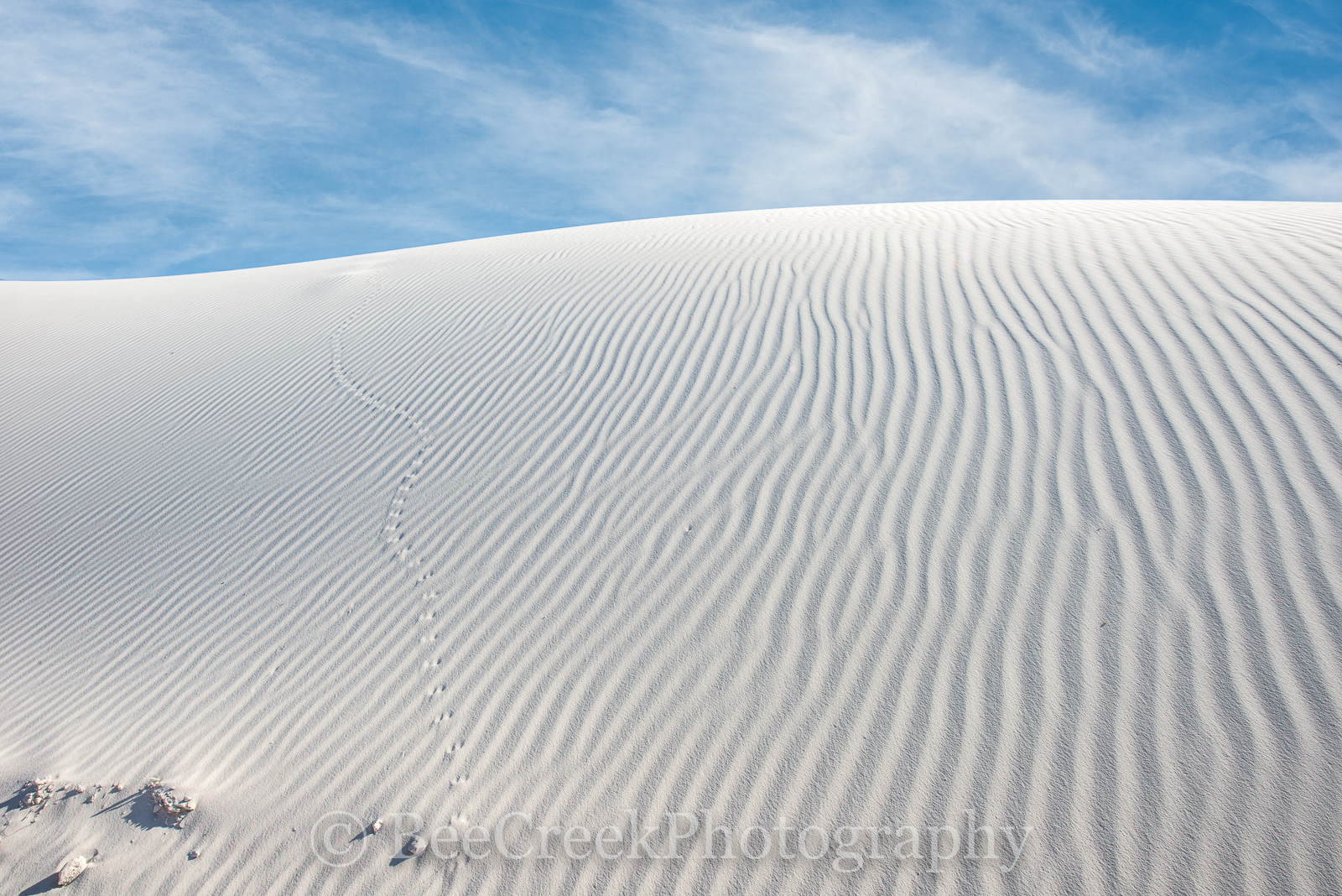 Patterns in the Sand Dunes - Coming toWhite Sand National Monument in New Mexico waslike going to the beach...