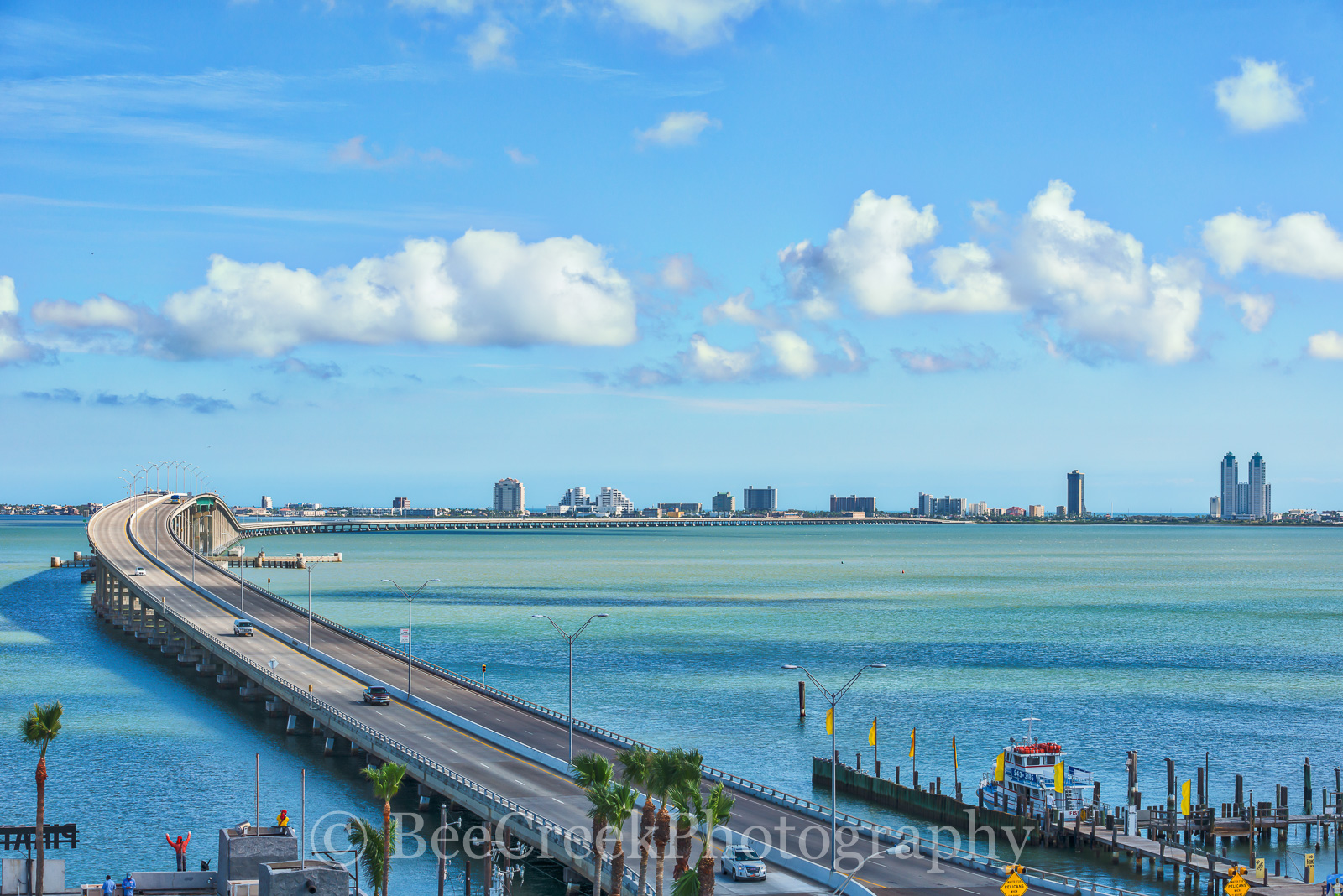Port Isabell, Texas, Ocean, Bridge to Padre Island, Queen Isabella Memorial Causeway, south padre island, island, water, beach, view of padre island, view of causeway to Padre island, padre island, Qu