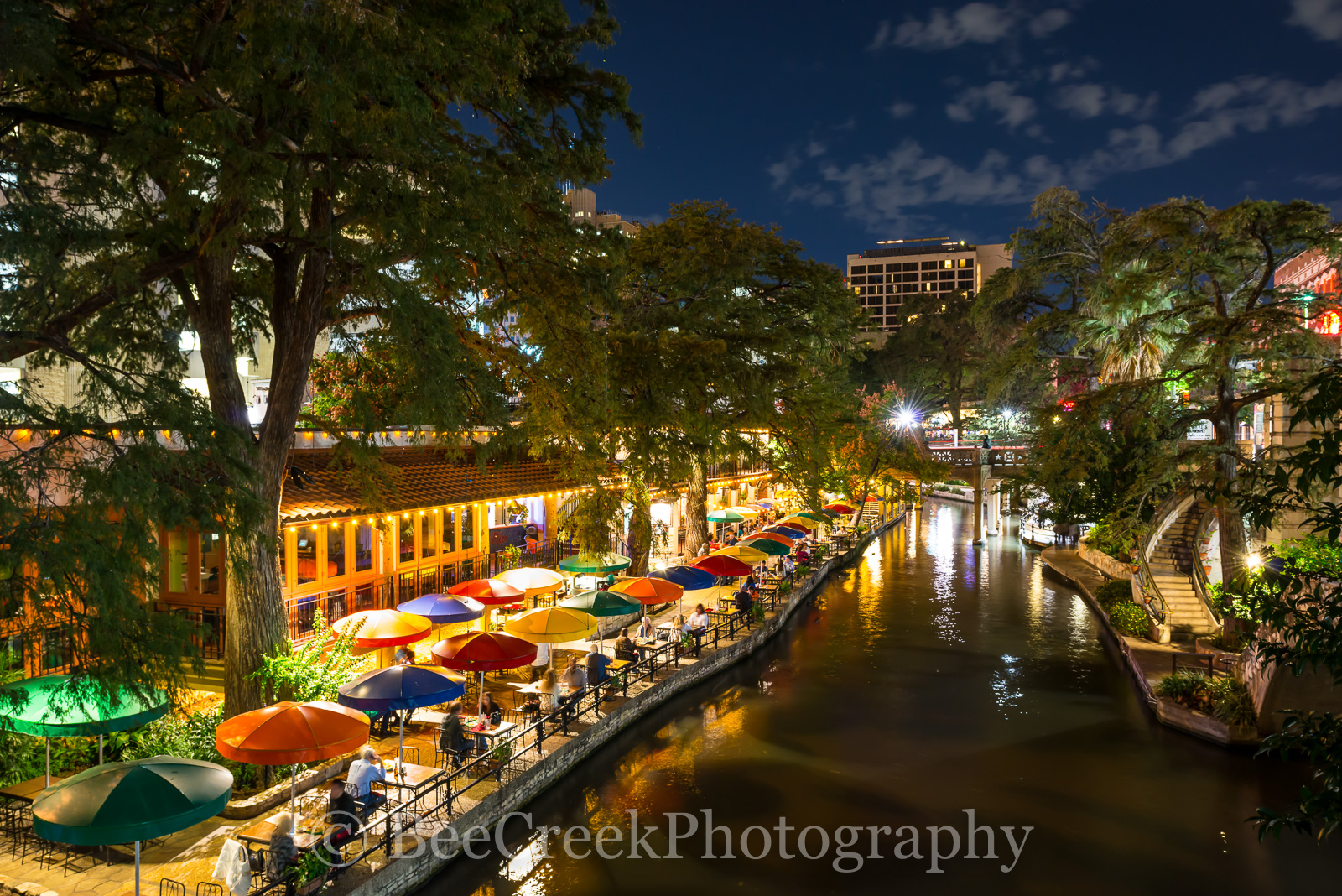 River Walk, SA, San Antonio, city, cityscape, cityscapes, colorful umbrellas, dinning, downtown, water, photo