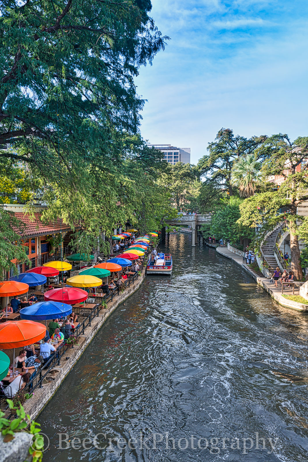 Casa Rio, River Boat, River Walk, Riverwalk, San Antonio, boat rides, city, cityscape, cityscapes, colorful umbrellas, destinations, downtown, drinks, food, hotels, outside dinning, restaurants, shopp, photo