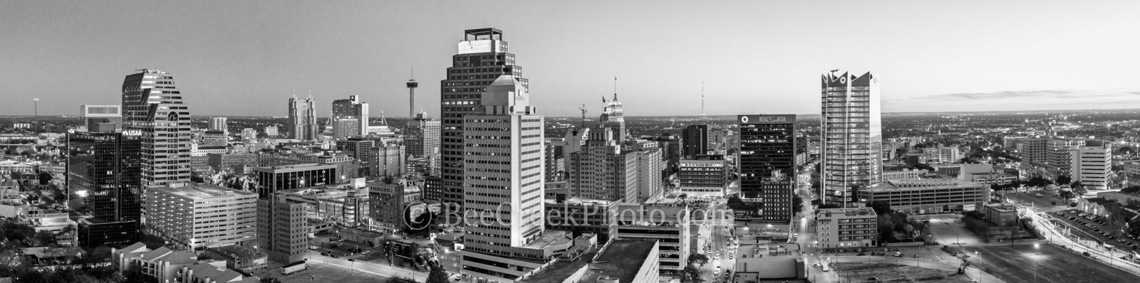 San Antonio, Skyline, Night, Panorama, pano, Frost Tower, Marriott, Grand Hyatt, Tower of the Americas, hemisphere, drury hotel, downtown, texas, Frost, building, cityscape, city, urban