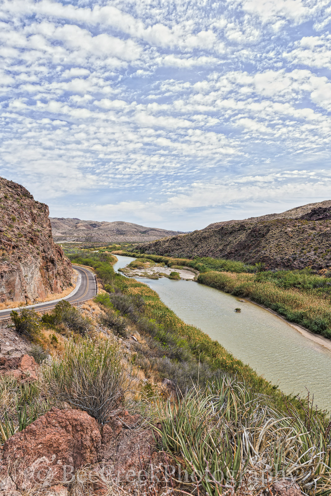 Big Bend State Park, Rio Grande River, big hill, fm170 cattails, overlook, river road, scenic, , photo