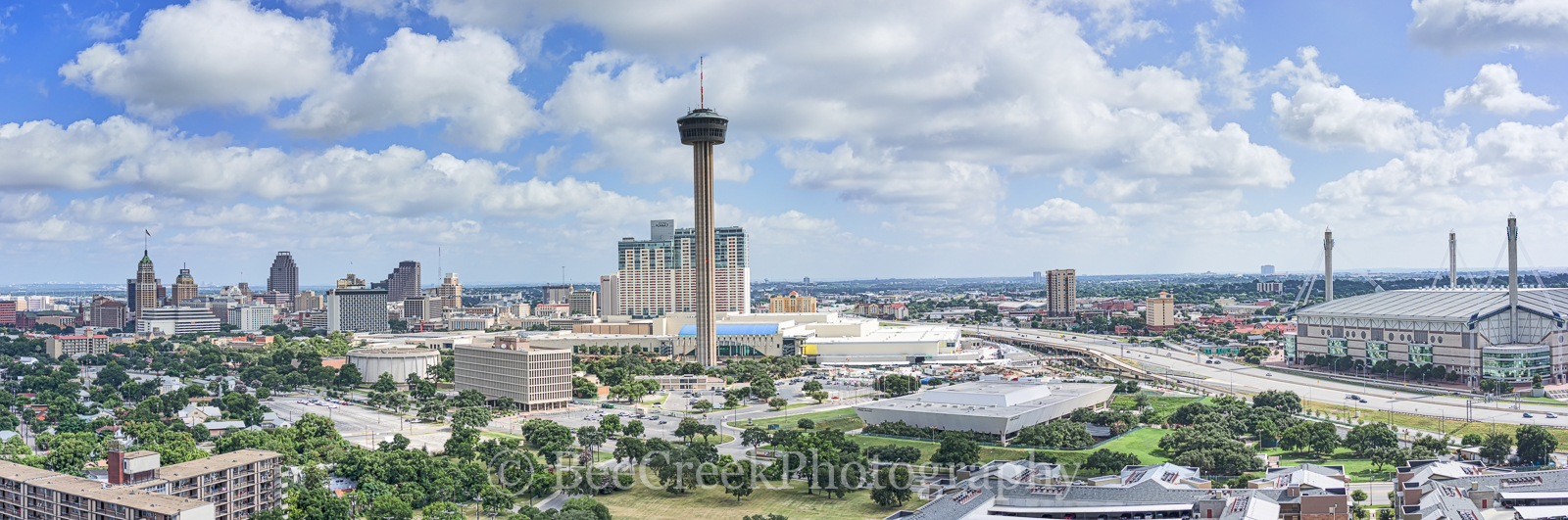 San Antonio skyline, Alamo Dome, Hemisphere, River Walk, SA, San Antonio, The Grand Hyatt, Tower Life, Tower of Americas, UT SA, Weston Center, aerial, drone, bank of america, cityscape, cityscapes, h, photo