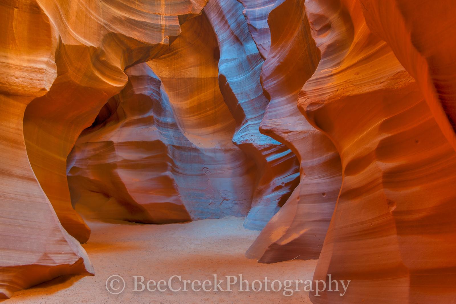 AZ, Arizona, antelope canyons, beecreekphoto, carved sandstone, colors of sloth canyons, desert southwest, erosion, exposed, flash floods, images of slot canyons,, photo