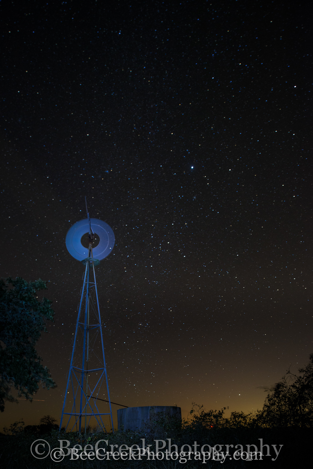night sky, spinning, star, stars, windmill, galaxy, Texas Hill Country, , photo