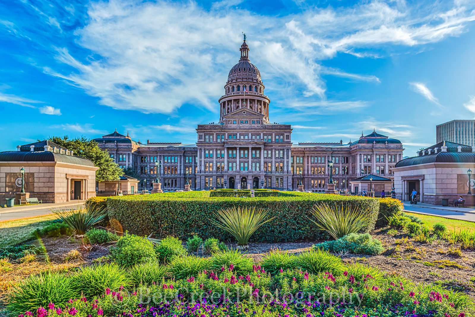 Austin, Capital, Capitol, Texas Capital, Texas Capitol, blue skies, cityscape, clouds, downtown, grounds, state capital, texas, photo